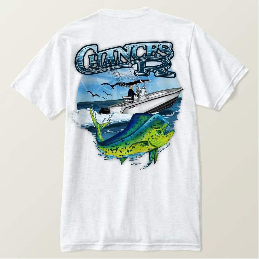 Kilpailutyö #                                        86                                      kilpailussa                                         Boat + Fishing Shirt Design
