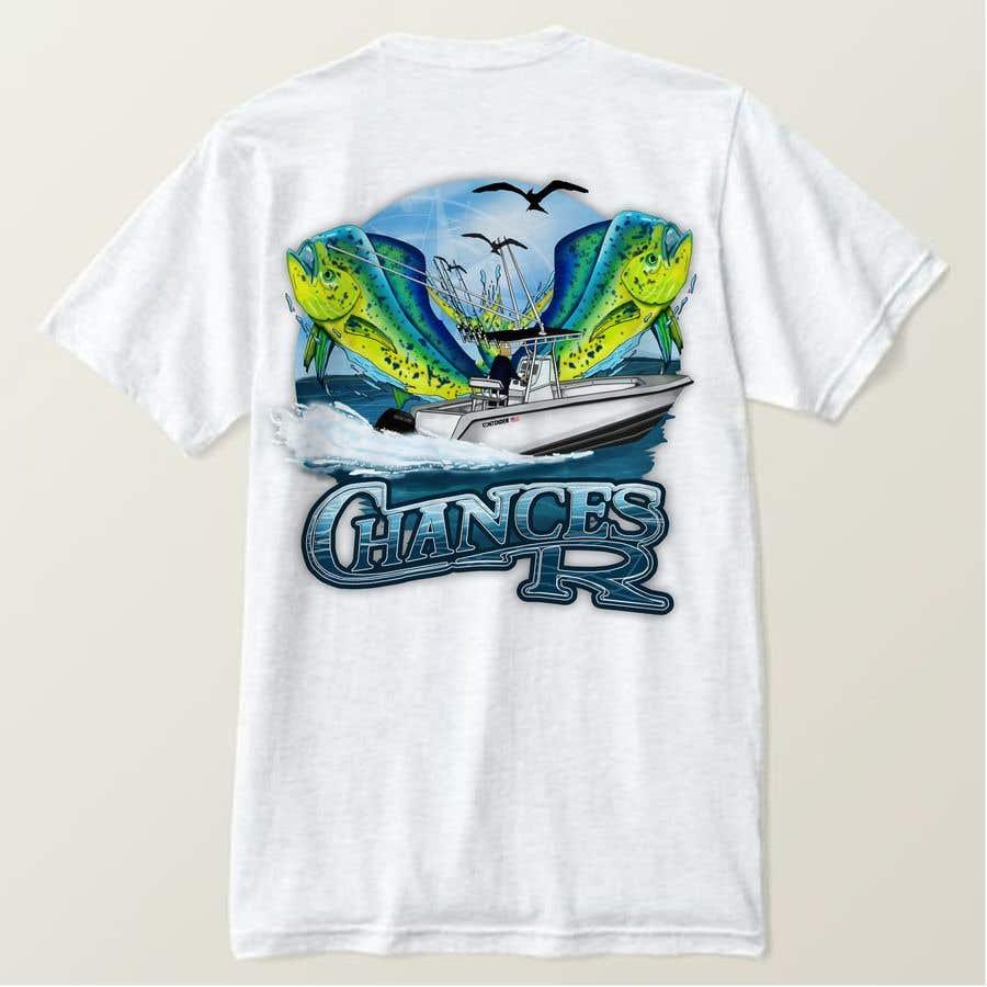 Kilpailutyö #                                        87                                      kilpailussa                                         Boat + Fishing Shirt Design