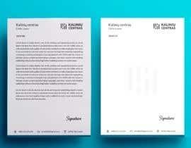 Nro 164 kilpailuun A4 letterhead design käyttäjältä Jubair002