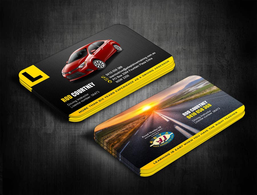 Contest Entry 123 For Design Some Business Cards Adept Driving School