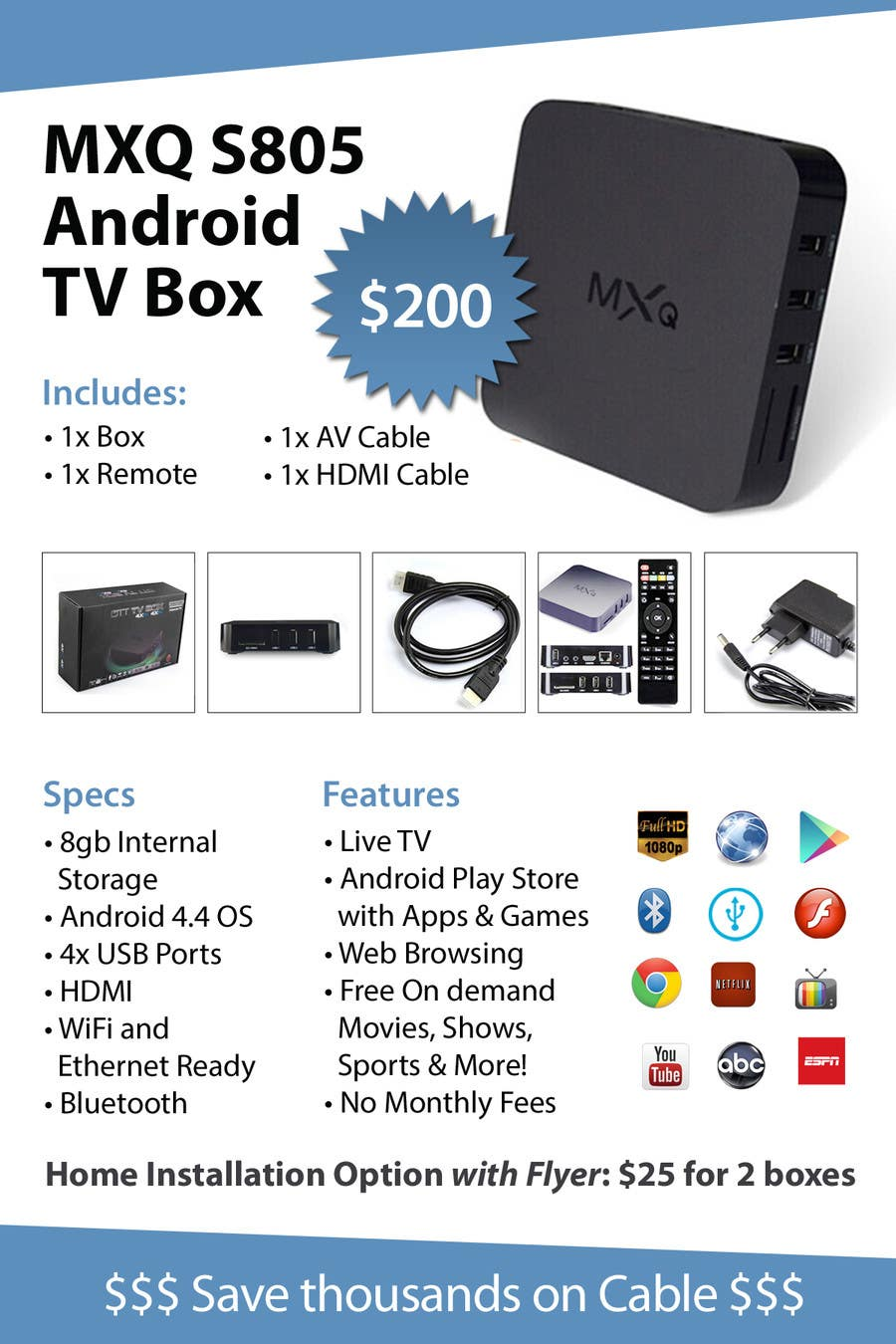 Design A Simple 4 Quot X 6 Quot Flyer For Android Tv Boxes