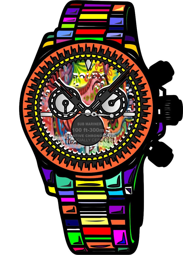Contest Entry #                                        9                                      for                                         Artistic Crazy Edge On Watch Face