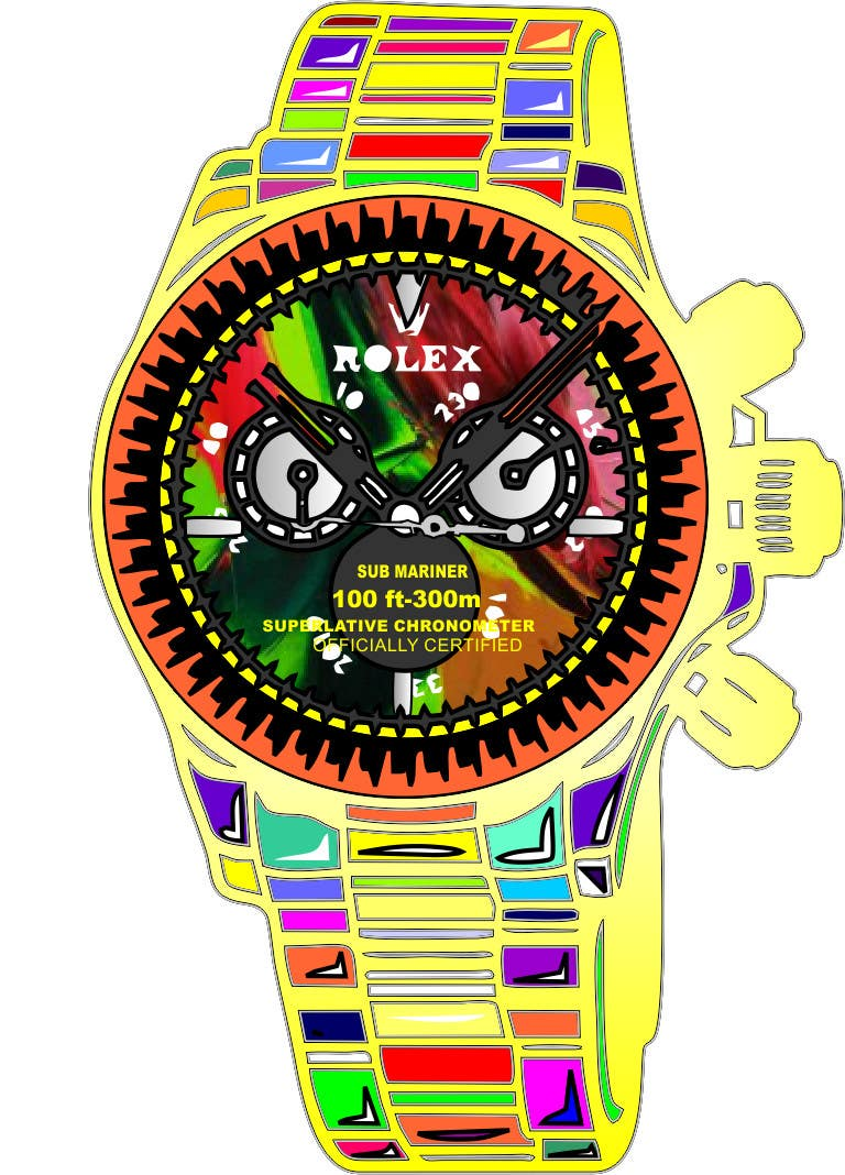 Konkurrenceindlæg #10 for Artistic Crazy Edge On Watch Face