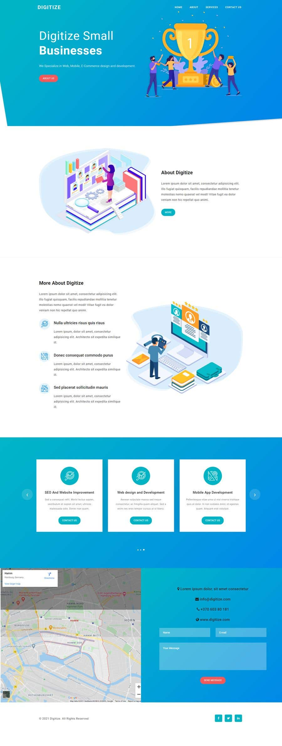 Bài tham dự cuộc thi #                                        50                                      cho                                         I need a Landing Page Website for Small Business Stores