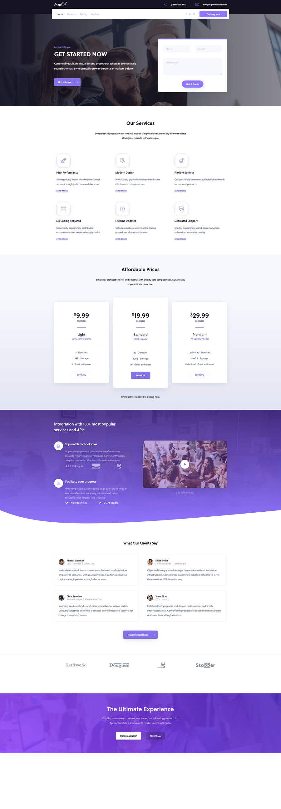 Bài tham dự cuộc thi #                                        43                                      cho                                         I need a Landing Page Website for Small Business Stores