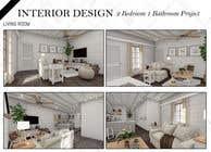 """3D Modelling Intrarea #9 pentru concursul """"2 Bed 1 Bath Interior Design Project"""""""
