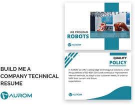 #32 для Build me a company technical resume от hasibbpi1988