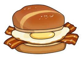 #10 for Design a Bacon and Egg roll emoticon af Aominoe