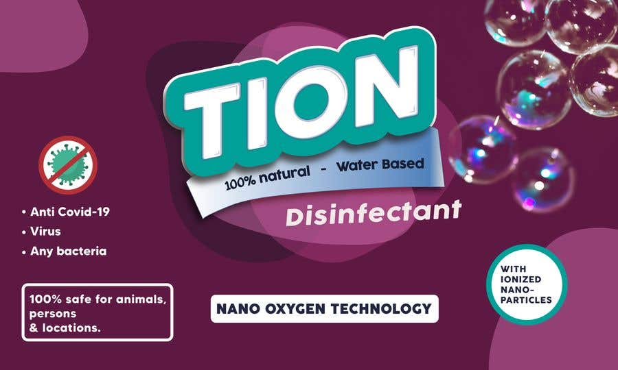 Proposition n°                                        18                                      du concours                                         Label  design with illustration for a disinfectant with nanoparticles
