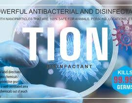 #2 para Label  design with illustration for a disinfectant with nanoparticles por RifaqatAli