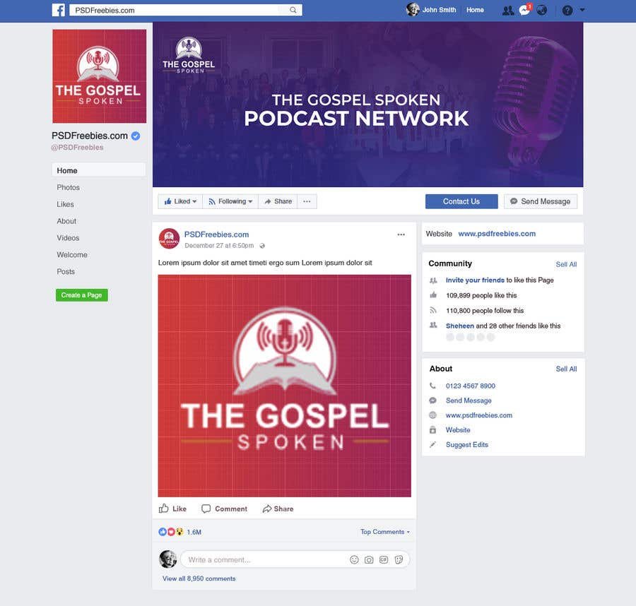 Contest Entry #                                        10                                      for                                         Facebook Cover for Podcast Hosting Site