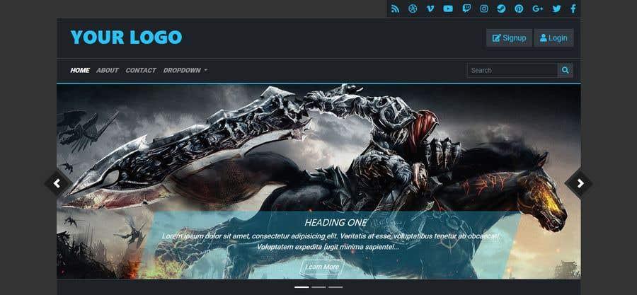 Kilpailutyö #                                        83                                      kilpailussa                                         Redesign landing page