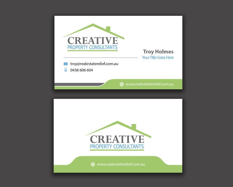 Entry 69 by angelacini for design some business cards for creative contest entry 69 for design some business cards for creative property consultants colourmoves