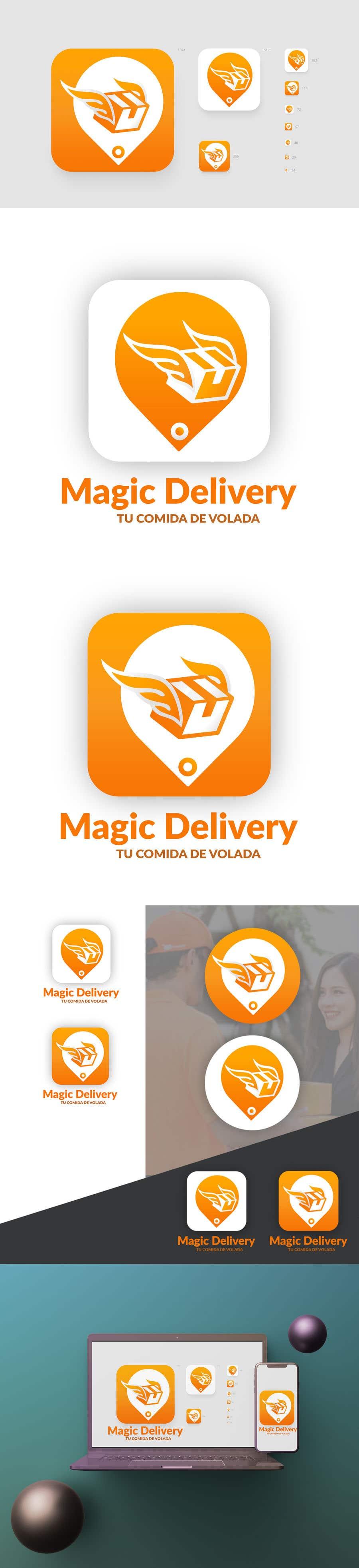 Kilpailutyö #                                        47                                      kilpailussa                                         Create a brand logo and eslogan for an Delivery App