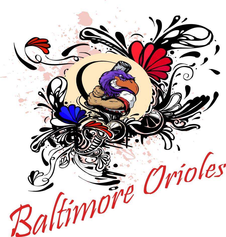 Inscrição nº                                         3                                      do Concurso para                                         Baltimore Orioles Custom T-shirt design