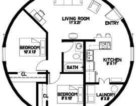 #4 für Architect's Design for a 2-bedroom Round, Grass Thatched House von ahmedrafayatul