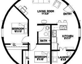 ahmedrafayatul tarafından Architect's Design for a 2-bedroom Round, Grass Thatched House için no 4