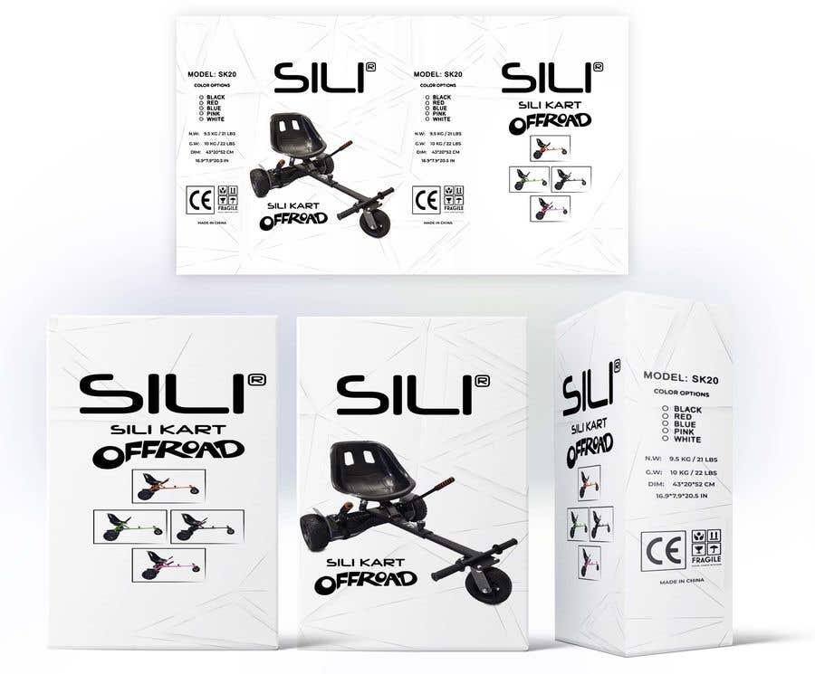 Kilpailutyö #                                        10                                      kilpailussa                                         Packaging Design - Colour Outer Box for Kids Toy (Hoverkart)