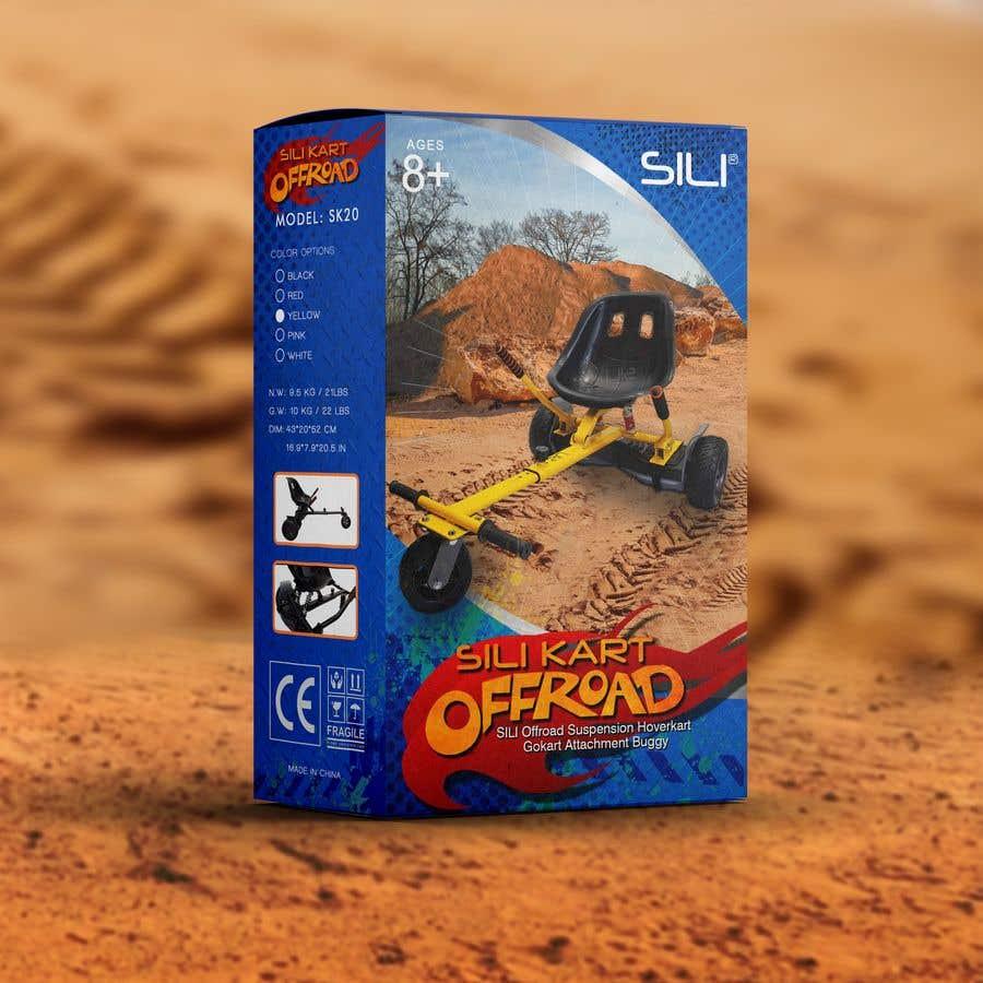 Kilpailutyö #                                        39                                      kilpailussa                                         Packaging Design - Colour Outer Box for Kids Toy (Hoverkart)