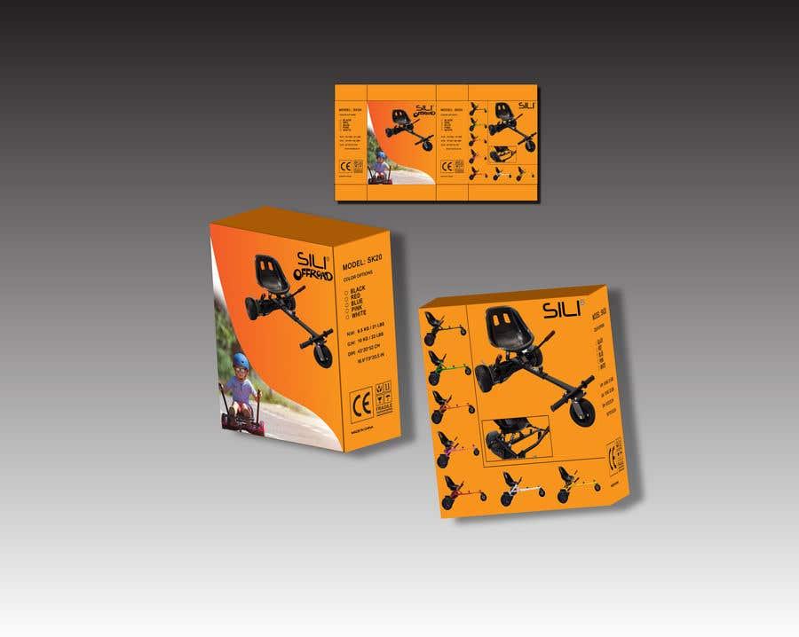 Kilpailutyö #                                        4                                      kilpailussa                                         Packaging Design - Colour Outer Box for Kids Toy (Hoverkart)