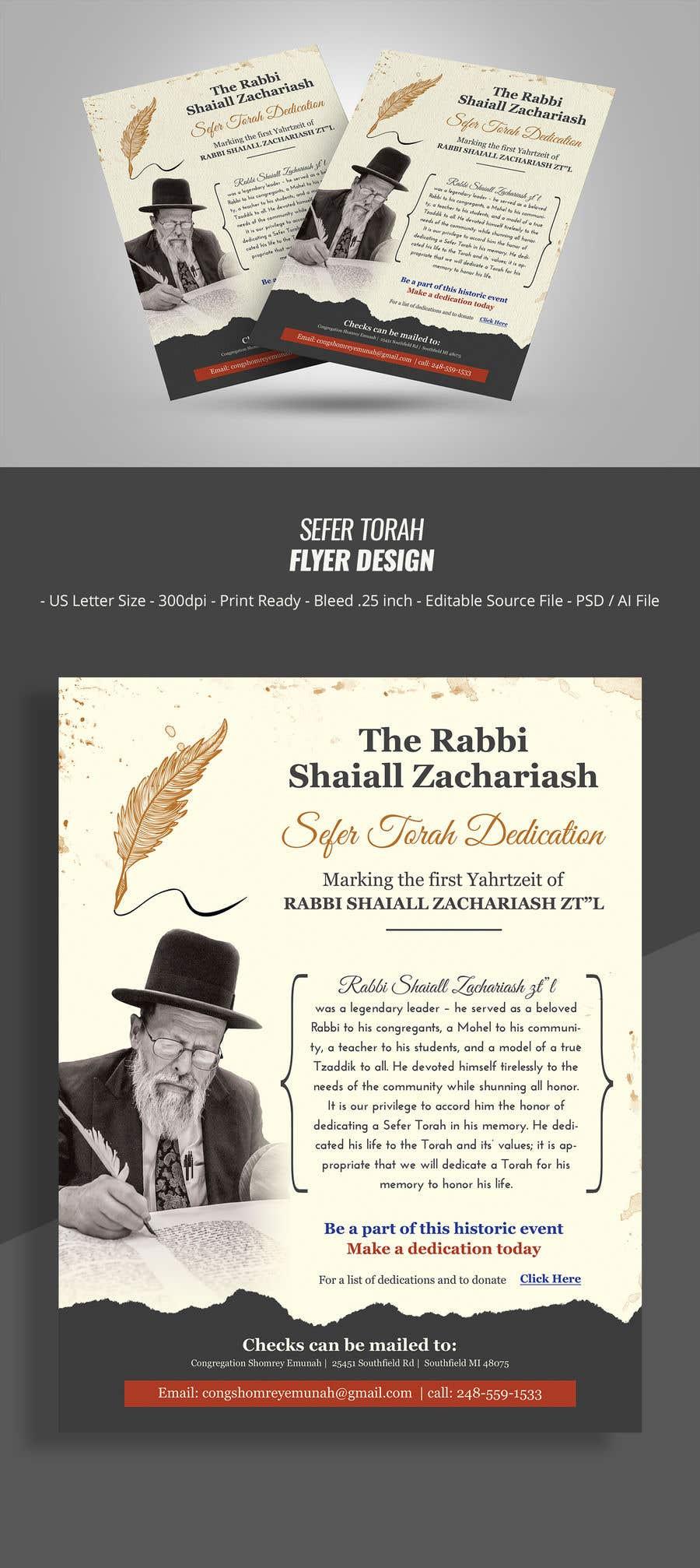 Proposition n°                                        160                                      du concours                                         Design a Flyer for an Event (Sefer Torah)