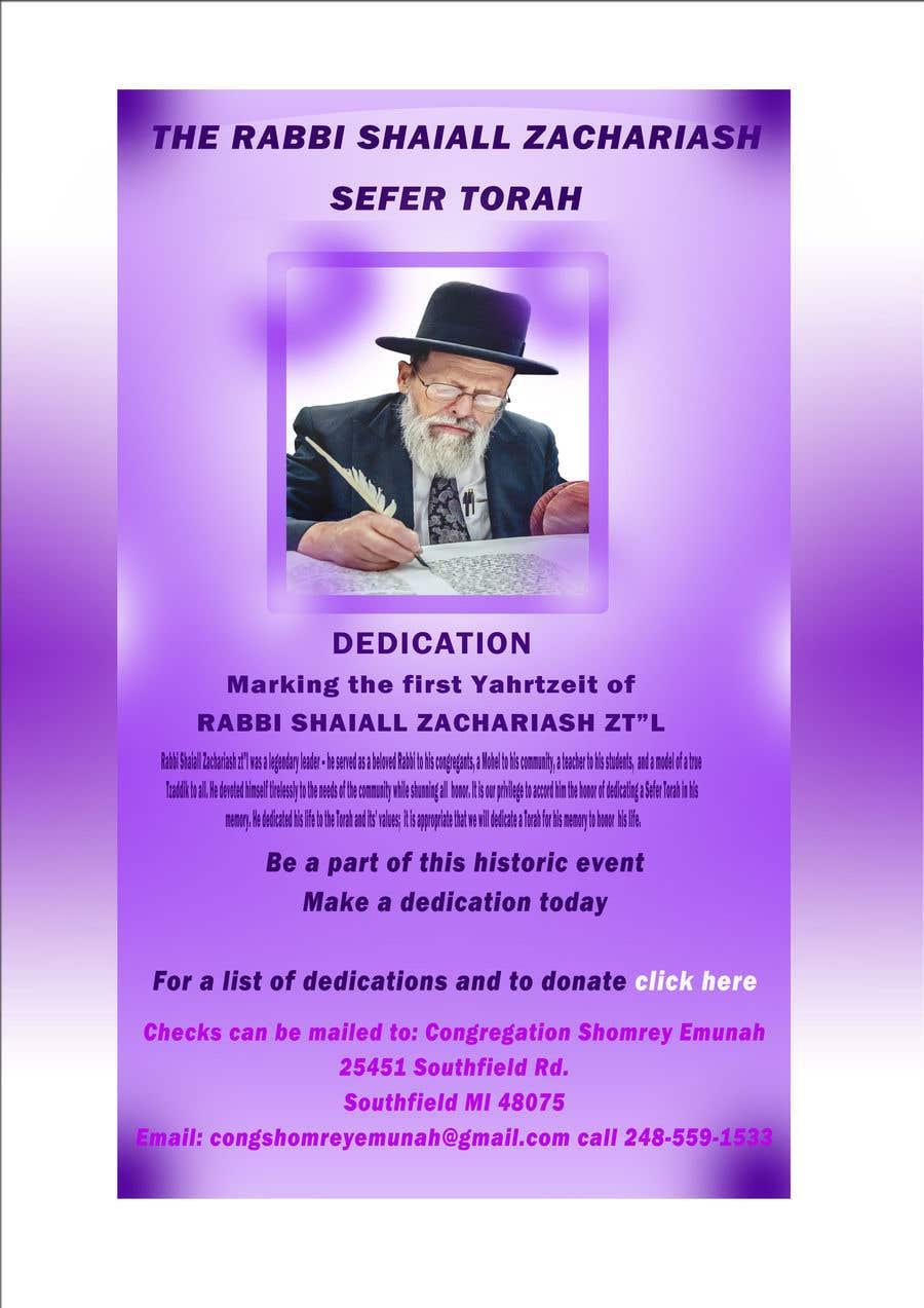 Proposition n°                                        33                                      du concours                                         Design a Flyer for an Event (Sefer Torah)