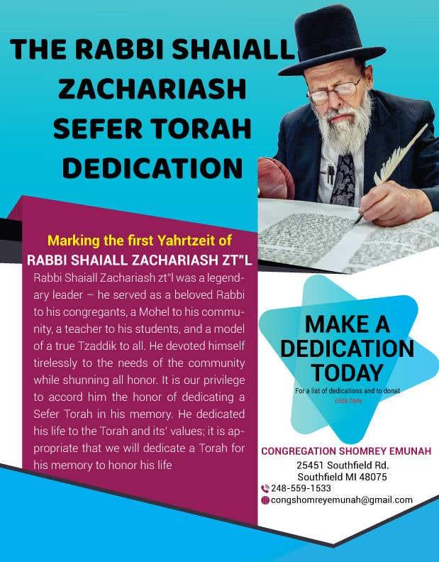 Proposition n°                                        19                                      du concours                                         Design a Flyer for an Event (Sefer Torah)
