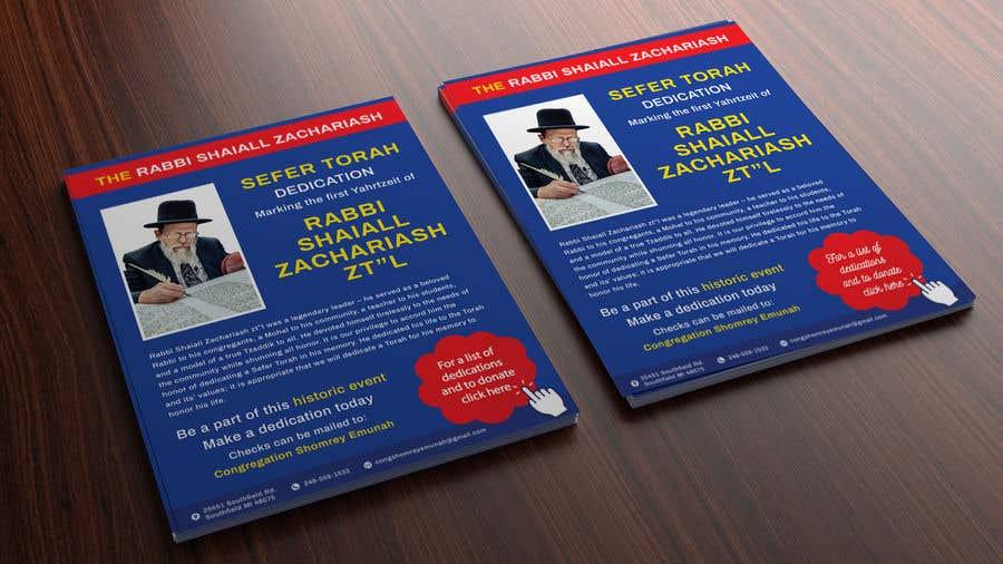Proposition n°                                        75                                      du concours                                         Design a Flyer for an Event (Sefer Torah)