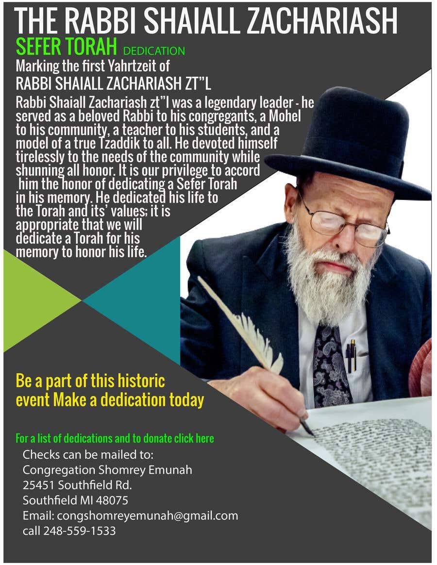 Proposition n°                                        11                                      du concours                                         Design a Flyer for an Event (Sefer Torah)