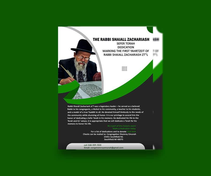 Proposition n°                                        34                                      du concours                                         Design a Flyer for an Event (Sefer Torah)