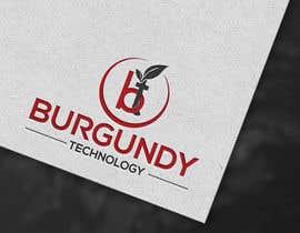 #186 pentru Burgundy Technology Logo Creation de către mdazizulhoq7753