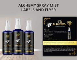 #121 cho Alchemy Spray Mist Labels and Flyer bởi TheCloudDigital
