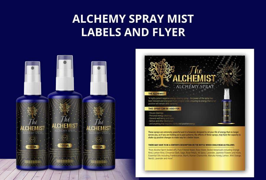 Bài tham dự cuộc thi #                                        123                                      cho                                         Alchemy Spray Mist Labels and Flyer