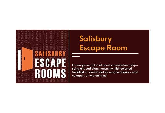 Kilpailutyö #                                        45                                      kilpailussa                                         escape room signage