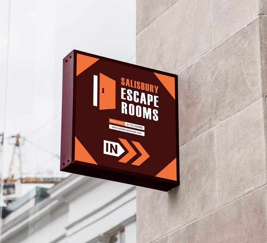 Kilpailutyö #                                        14                                      kilpailussa                                         escape room signage