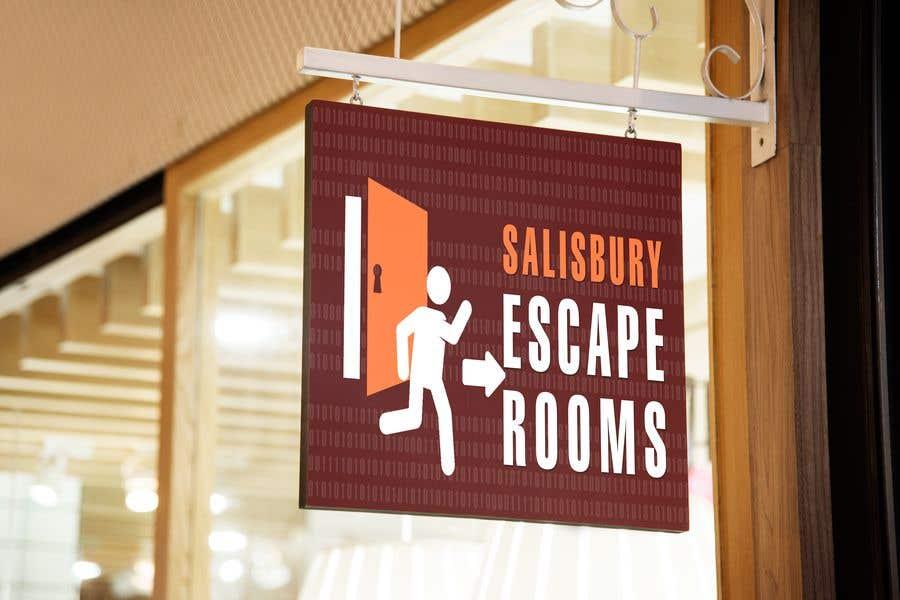 Kilpailutyö #                                        44                                      kilpailussa                                         escape room signage