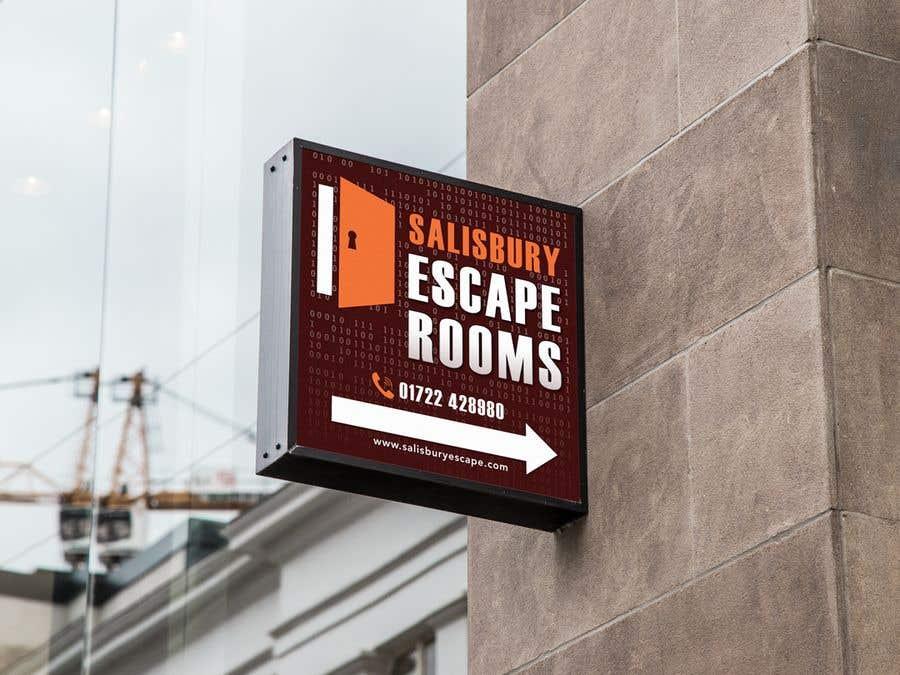 Kilpailutyö #                                        12                                      kilpailussa                                         escape room signage