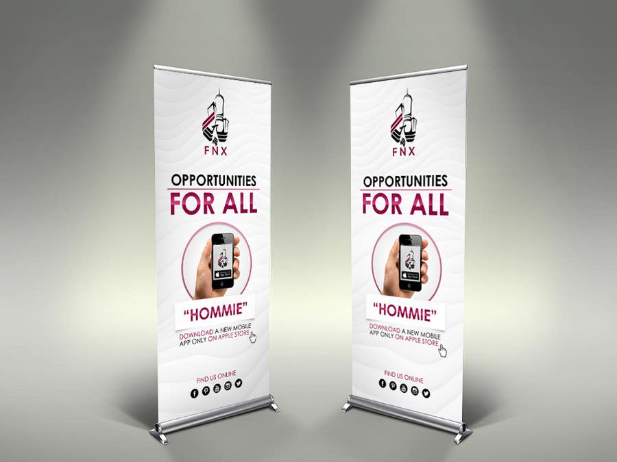 Contest Entry #                                        7                                      for                                         I need a roll up banner & website