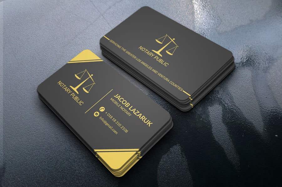 Kilpailutyö #                                        109                                      kilpailussa                                         Business Card - Notary Public