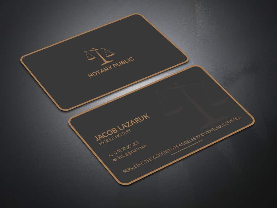 Kilpailutyö #                                        41                                      kilpailussa                                         Business Card - Notary Public