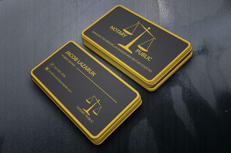 Kilpailutyö #                                        63                                      kilpailussa                                         Business Card - Notary Public
