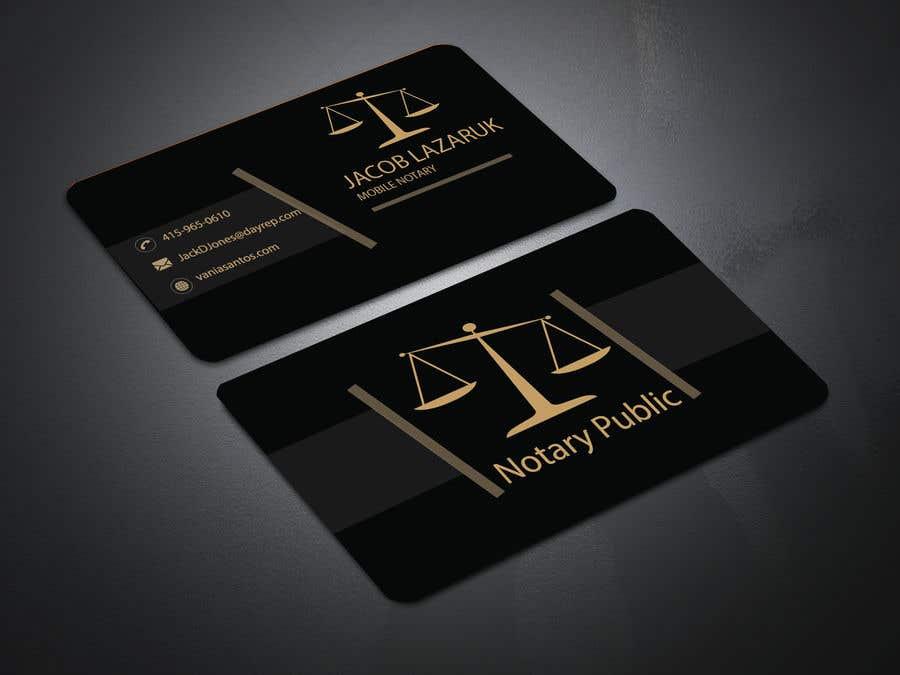 Kilpailutyö #                                        60                                      kilpailussa                                         Business Card - Notary Public