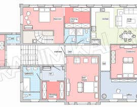 #21 for Create a new layout for refurbishment of an upper floor in .pdf and .dwg af offeradesign