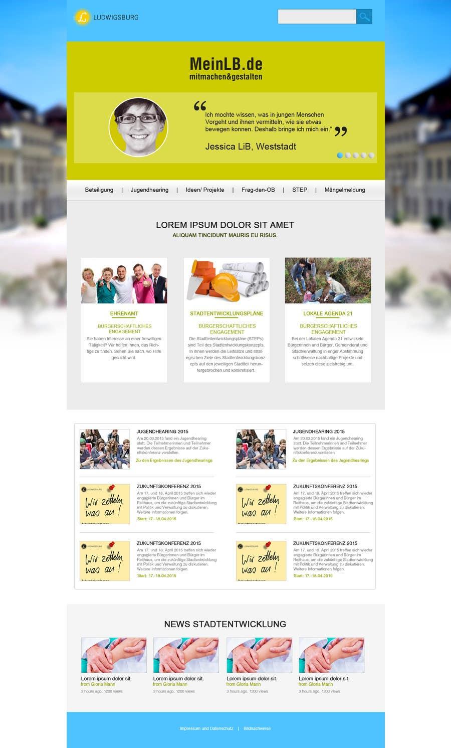Kilpailutyö #10 kilpailussa Re-Design landingpage of a productive wordpress website