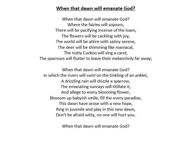 Entry 8 By Nishantjain21 For Translate A Hindi Poem To