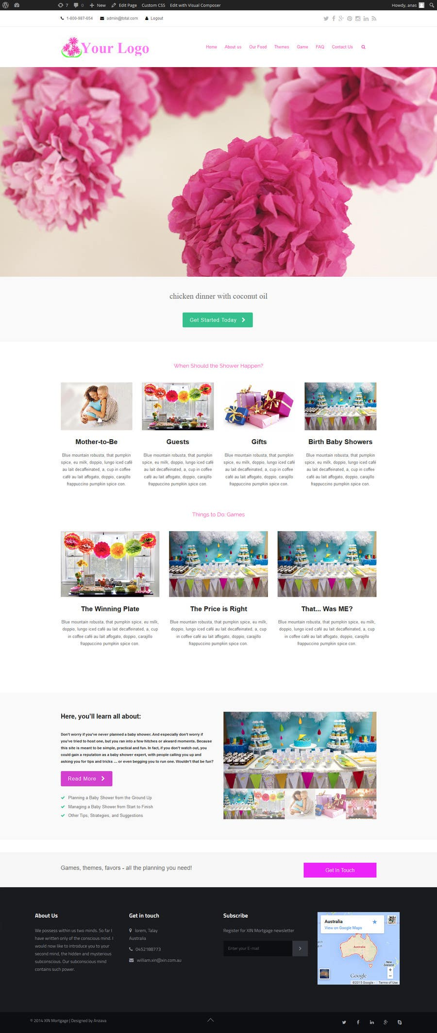 Contest Entry #                                        8                                      for                                         Design a Website Mockup for planyourbabyshower.com
