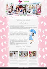 #9 cho Design a Website Mockup for planyourbabyshower.com bởi logodesire