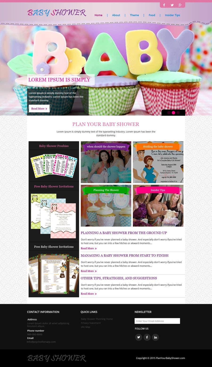 Penyertaan Peraduan #18 untuk Design a Website Mockup for planyourbabyshower.com