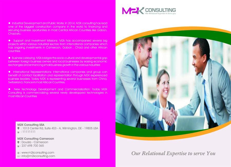 Konkurrenceindlæg #10 for Design a Single Fold Brochure for M2K Consulting