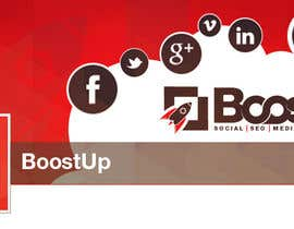 Cbox9 tarafından Design a Logo, business card and social media banner for BoostUp için no 257